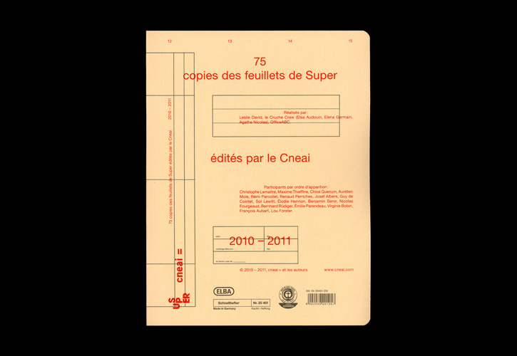 75 copies des feuillets de Super